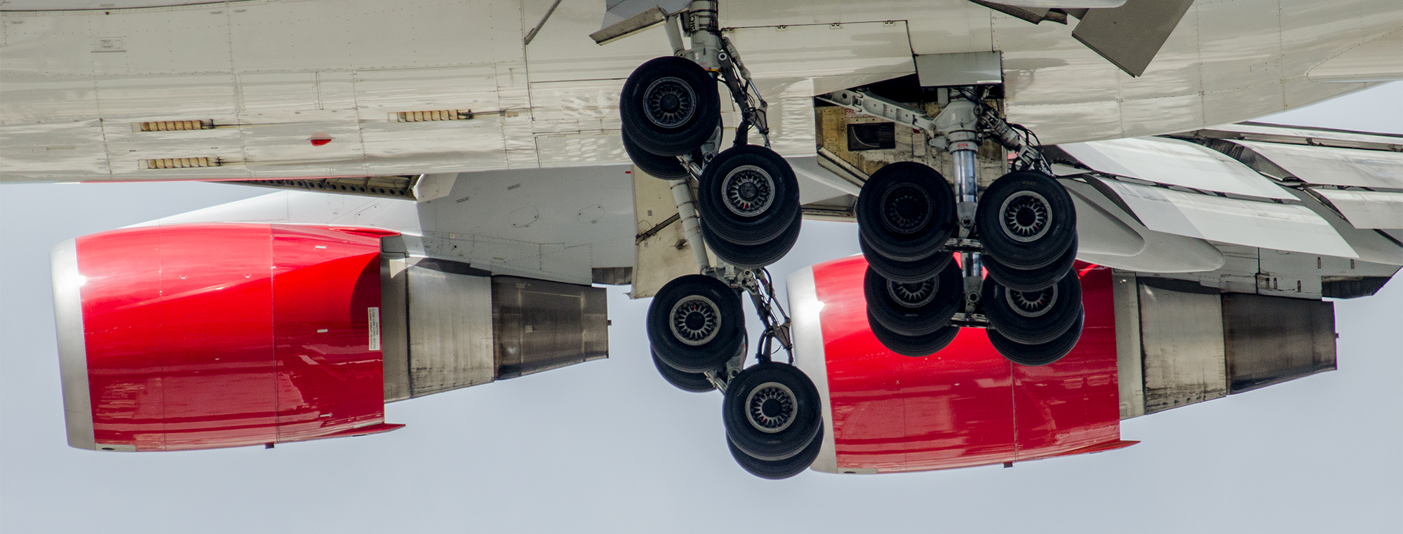 "Sexy undercarriage on another Virgin 747, G-VROS ""English Rose"""